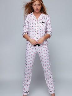 Хлопковая женская пижама с рубашкой и штанами
