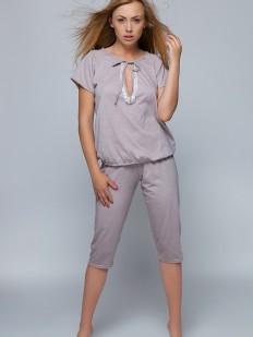 Хлопковая теплая пижама для женщин с бриджами Sensis KATE