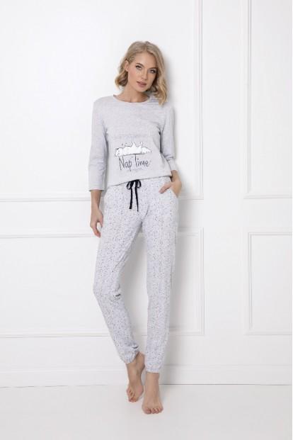 Утепленная женская пижама серого цвета с брюками Aruelle MARTHINE - фото 1