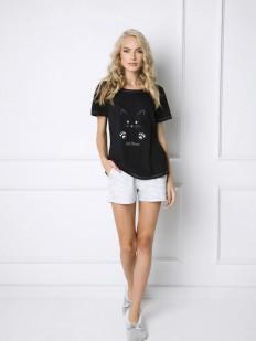 Пижама с шортами ARUELLE CATWOMAN BLACK