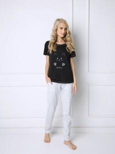 Пижама со штанами ARUELLE CATWOMAN BLACK