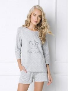 Женская хлопковая летняя пижама с шортами и звездочками