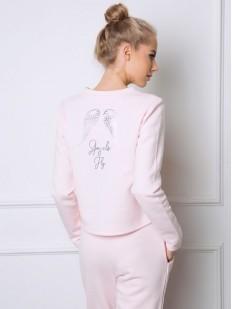 Теплая женская пижама со штанами и крыльями на спине