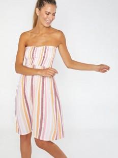 Пляжное платье из вискозы с открытыми плечами