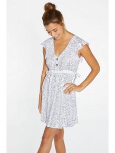Короткое пляжное платье из легкой вискозы в горошек