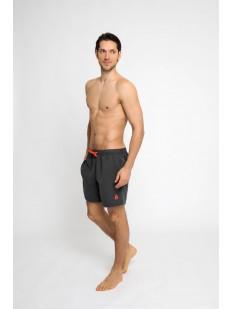 Пляжные мужские серые шорты с карманами