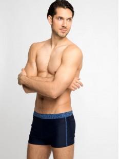 Синие мужские плавки боксеры из быстросохнущего материала