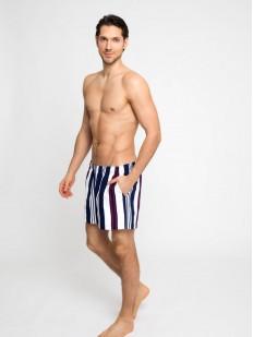 Мужские купальные шорты в полоску с карманами