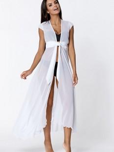 Длинное пляжное платье парео прозрачное без рукавов