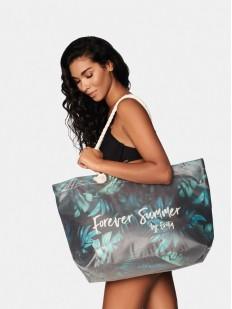 Большая пляжная сумка с тропическим принтом