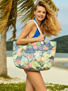Просторная пляжная сумка с летним цветочным принтом