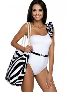 Пляжная сумка с принтом зебра
