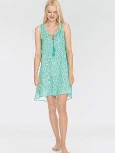 Летнее женское домашнее мятное платье из вискозы