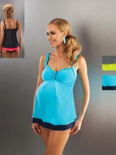 Раздельный разноцветный купальник танкини для беременных