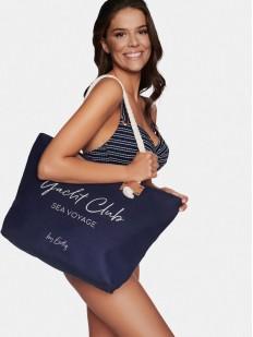 Синяя пляжная сумка в морском стиле