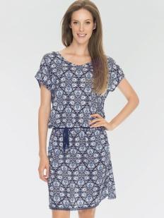Летнее женское платье из вискозы с этническим принтом