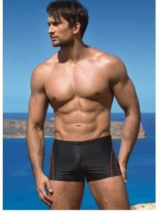 Мужские купальные плавки боксеры в спортивном стиле