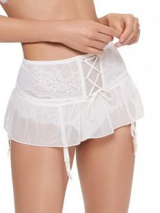 Кружевной пояс для чулок в виде мини юбки