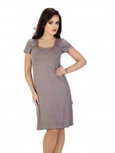 Женская ночная сорочка из вискозы с прямоугольным вырезом и коротким рукавом