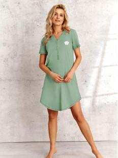 Хлопковая женская ночная сорочка с коротким рукавом
