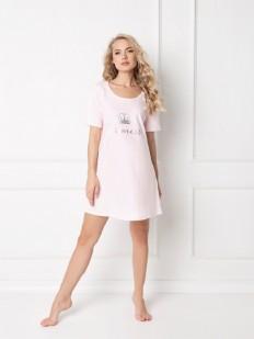 Хлопковая розовая ночнушка с серебристой короной для принцессы