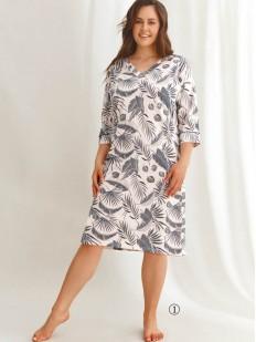 Женская ночная сорочка большого размера с растительным принтом