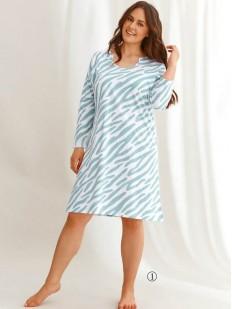 Ночная сорочка большого размера с цветным принтом