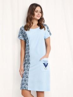 Женская ночная сорочка с карманом и геометрическим принтом