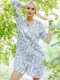 Летняя женская рубашка из вискозы с цветочным принтом