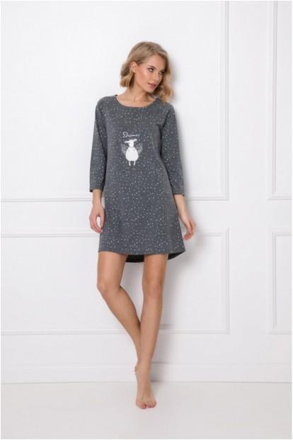 Расклешенная ночная сорочка серого цвета Aruelle DEBBIE - фото 1