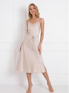 Длинная атласная ночная сорочка под платье
