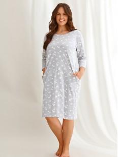 Женская ночная сорочка больших размеров с ромашками
