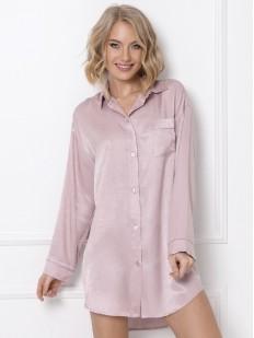 Атласная ночная рубашка из вискозы нежно-розового цвета