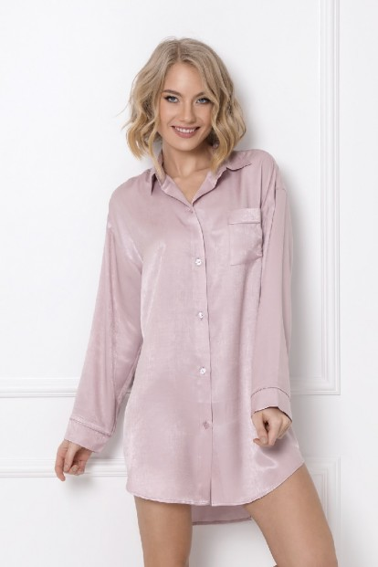 Розовая ночная рубашка из вискозы Aruelle LUCY - фото 1