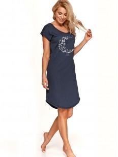 Женская ночная сорочка с лунным принтом и коротким рукавом