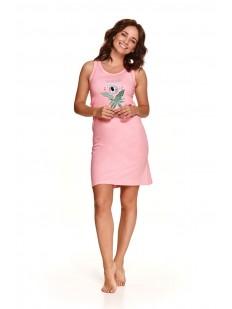 Летняя женская сорочка без рукавов с принтом мишки коала