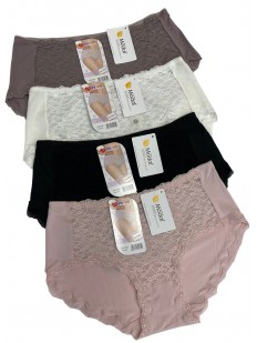 Набор высоких женских трусов слип (12 шт) с широкой боковой стороной