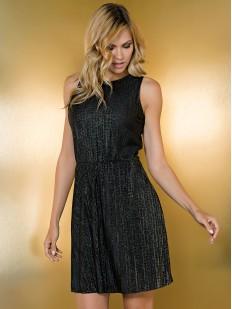Женское блестящее летнее платье черное