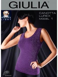 Бесшовная майка GIULIA Canotta Lurex 01