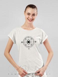 Домашняя женская футболка из хлопка бежевая