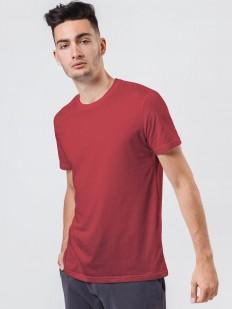 Красная мужская хлопковая футболка прямого кроя