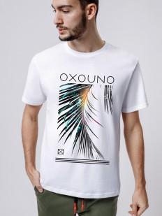 Хлопковая мужская футболка прямого кроя с принтом