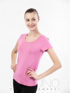 Классическая розовая женская футболка из вискозы