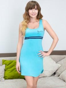 Женское летнее домашнее платье без рукавов