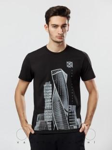 Мужская футболка Oxouno 0370-146 kulir 01