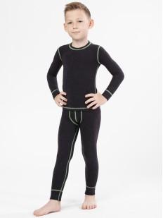Детский черный комплект термобелья из вискозы для мальчика