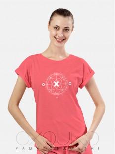 Домашняя женская футболка из хлопка розовая