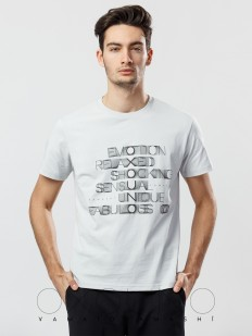 Хлопковая мужская домашняя футболка