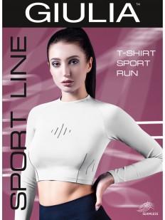 Спортивная укороченная женская футболка лонгслив