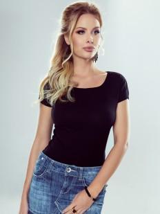 Женская хлопковая футболка с круглым вырезом